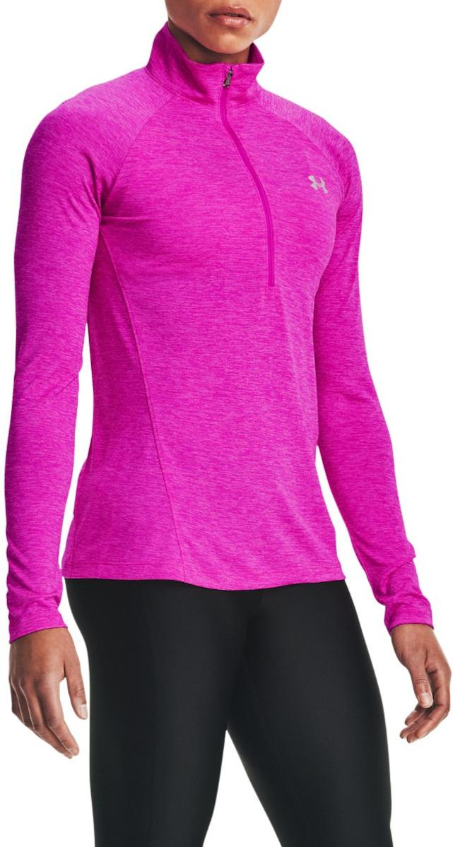 Tee-shirt à manches longues Under Armour Tech 1/2 Zip - Twist-PNK